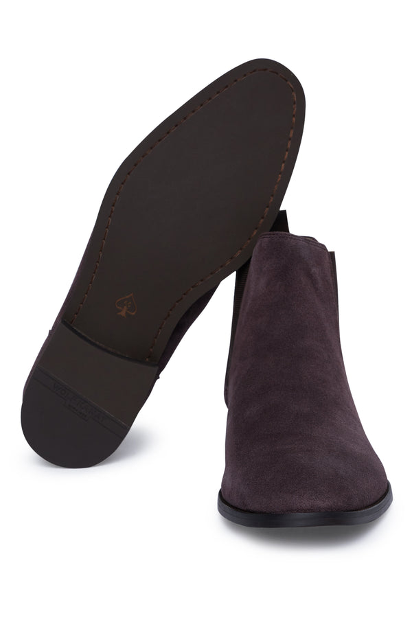 BROWN SUEDE LEATHER CHELSEA BOOT