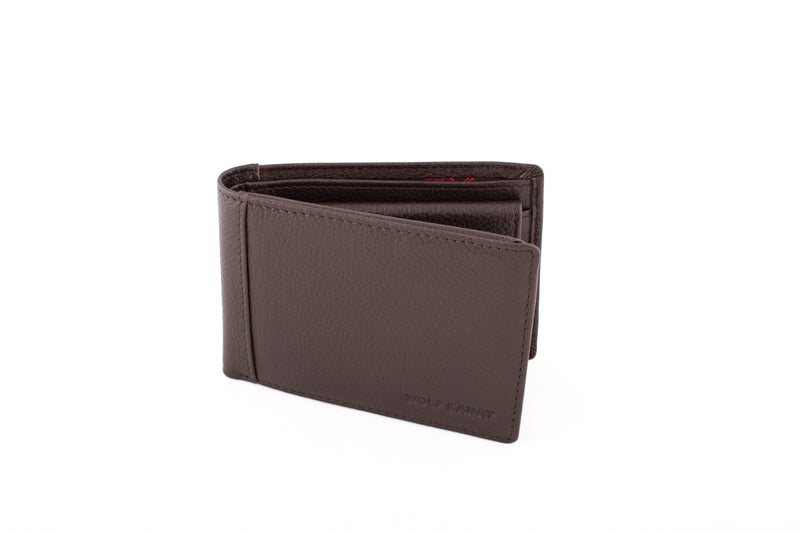 MEKNES BROWN GRAIN LEATHER WALLET