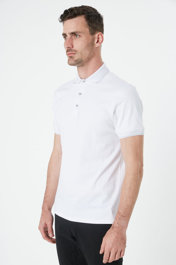 WHITE LUXURY COTTON POLO