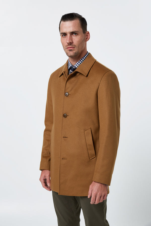 CAMEL WOOL ICE OVERCOAT