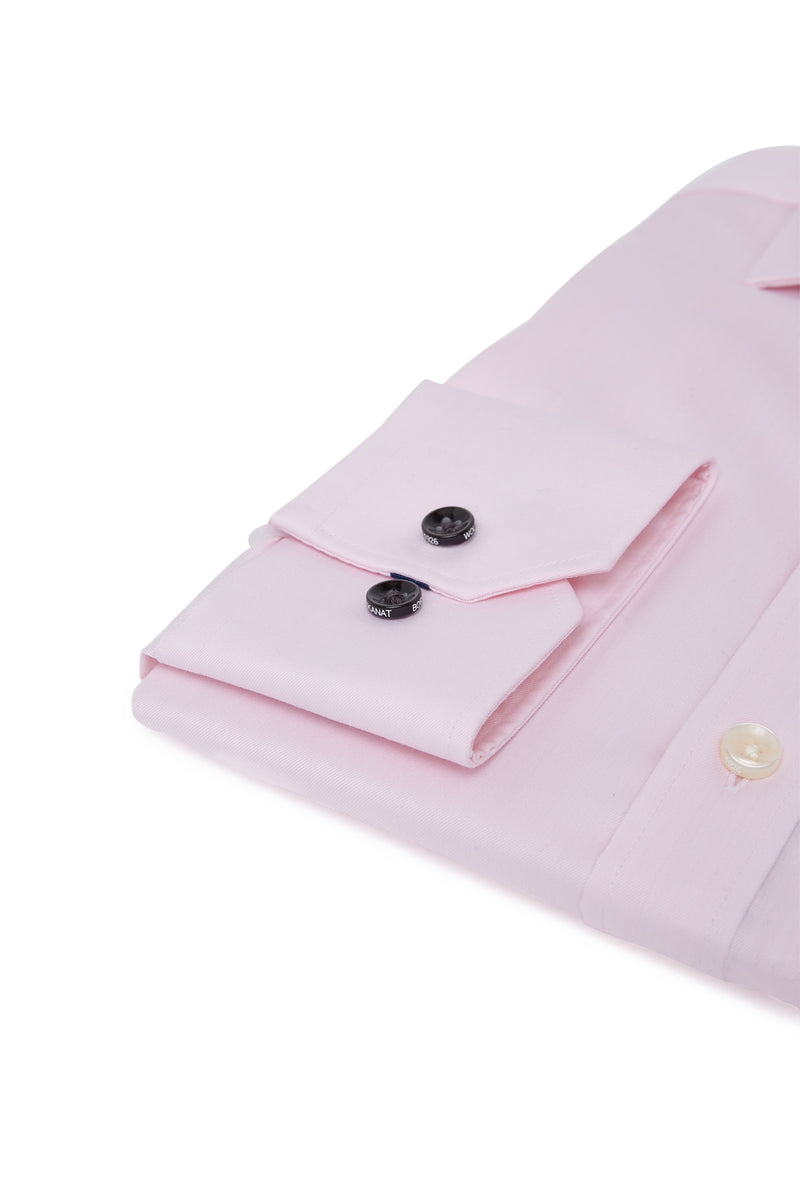 PINK COTTON TWILL SLIM FIT ROMANOV SHIRT