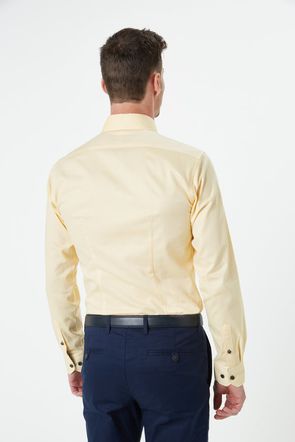 CITRUS YELLOW OXFORD SLIM FIT HERVE SHIRT
