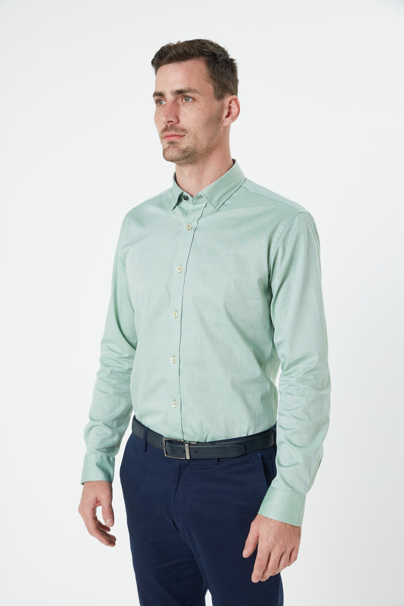 MINT GREEN OXFORD SLIM FIT KOSH SHIRT