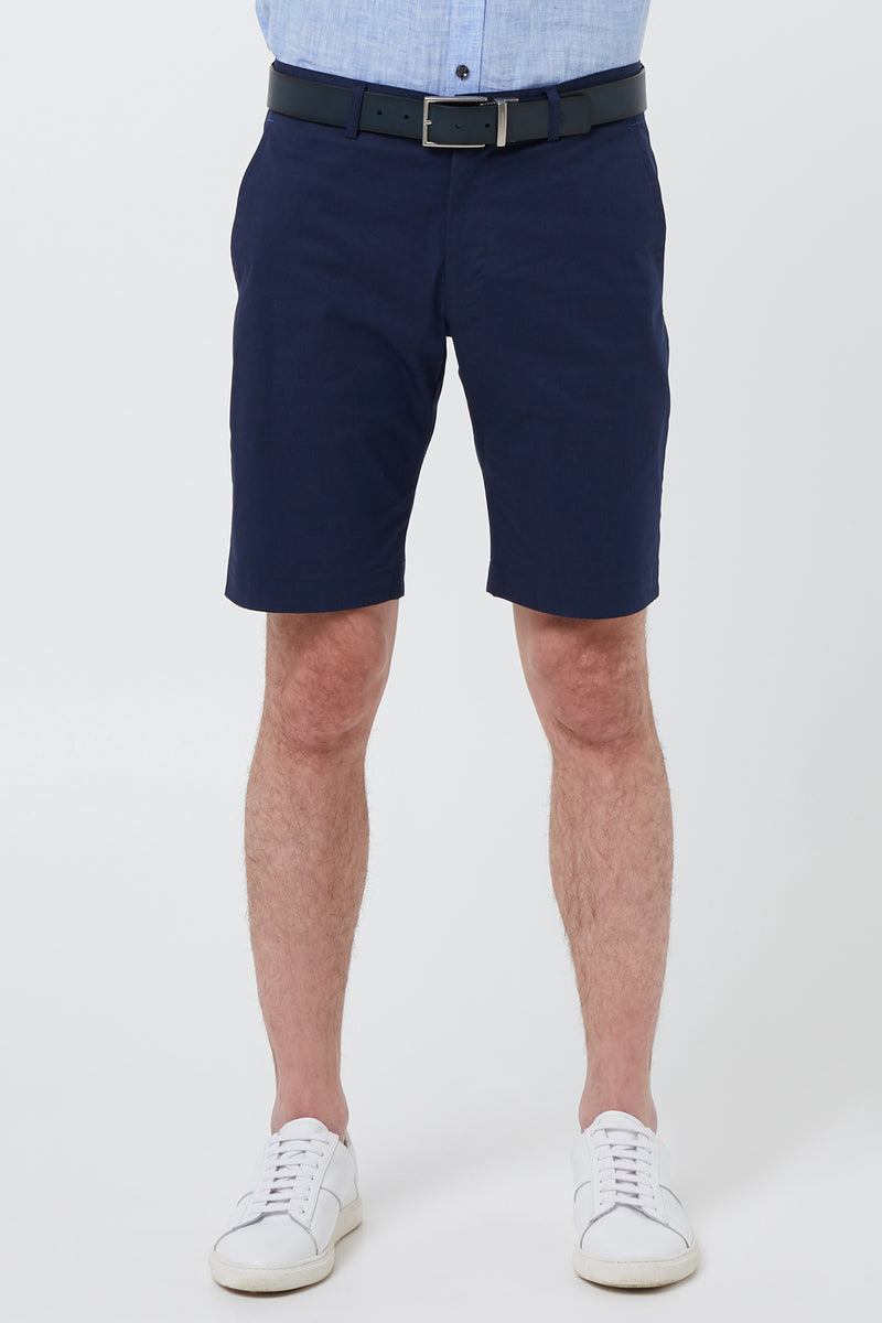 NAVY COTTON STRETCH VODKA SHORT