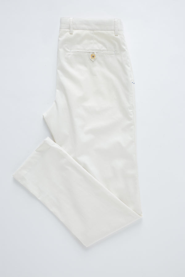 IVORY COTTON STRETCH SLIM FIT TOPSKY CHINO
