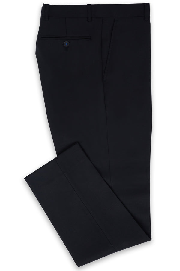 BLACK SUPER 120'S WOOL SLIM FIT 'AUTOGRAF' TROUSER