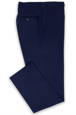 BLUE SUPER 120'S WOOL SLIM FIT AUTOGRAF TROUSER
