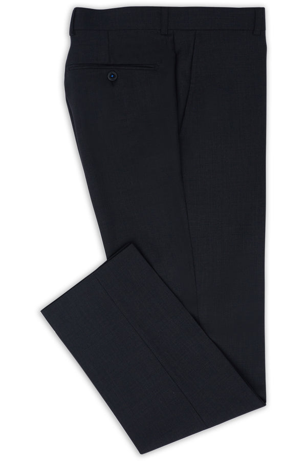 CHARCOAL MICRO TEXTURE SUPER 100'S WOOL SLIM FIT HEARTS TROUSER
