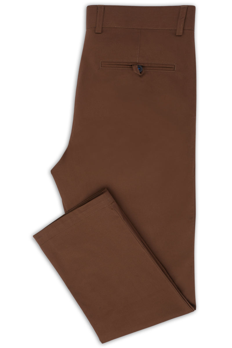 TOFFEE COTTON STRETCH SLIM FIT TOPSKY CHINO