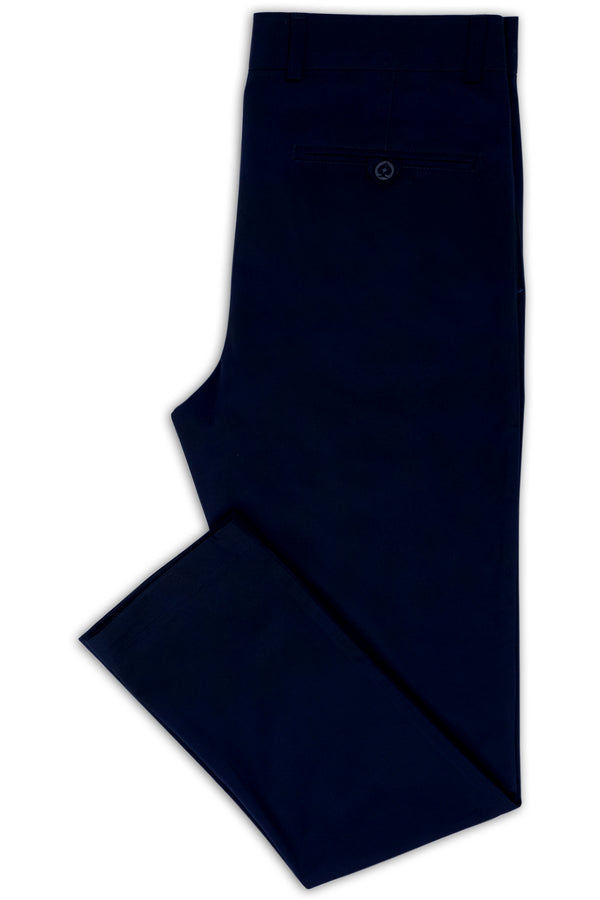 NAVY COTTON STRETCH SLIM FIT TOPSKY CHINO