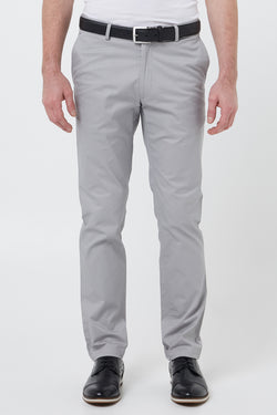 SILVER COTTON STRETCH SLIM FIT TOPSKY CHINO