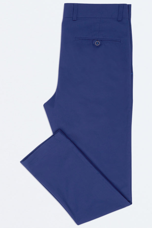 BLUE COTTON STRETCH SLIM FIT TOPSKY CHINO