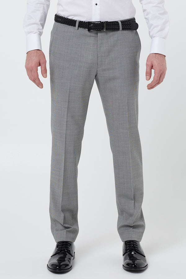 BLACK AND WHITE HOUNDSTOOTH WOOL SLIM FIT YURY TROUSER