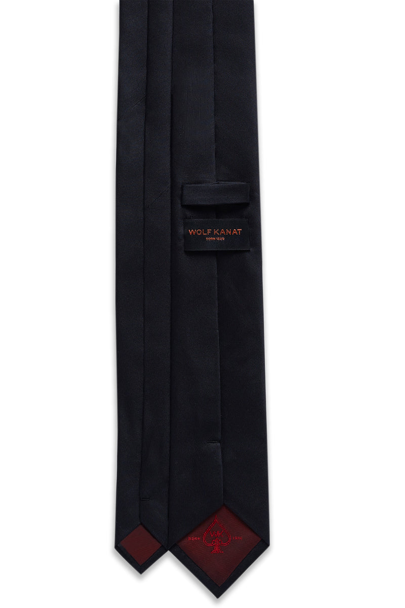 BLACK SILK PLAIN TIE
