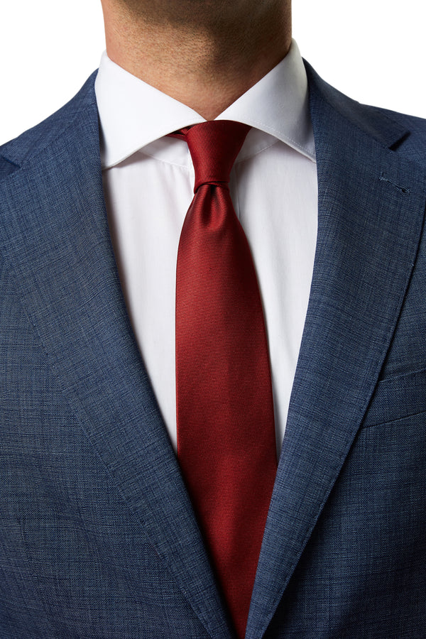 RED SILK PLAIN TIE