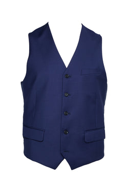 BLUE SUPER 120'S WOOL SLIM FIT 'AUTOGRAF' VEST