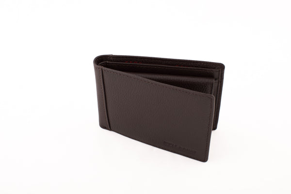 Volubilis Brown leather wallet