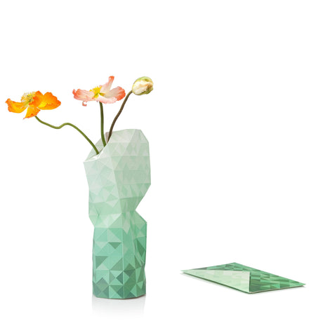 Paper Vase Cover - Green Gradient - Large