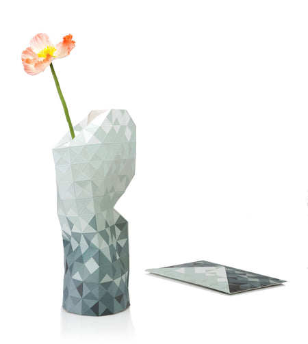 Paper Vase Cover - Grey Gradient - Large