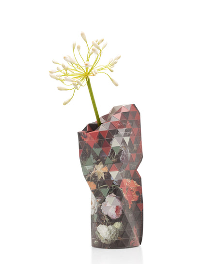 Paper Vase Cover - Still Live With Flowers - Small