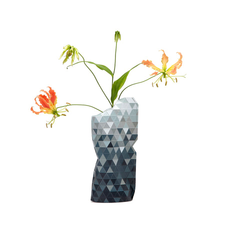 Paper Vase Cover - Grey Gradient - Small