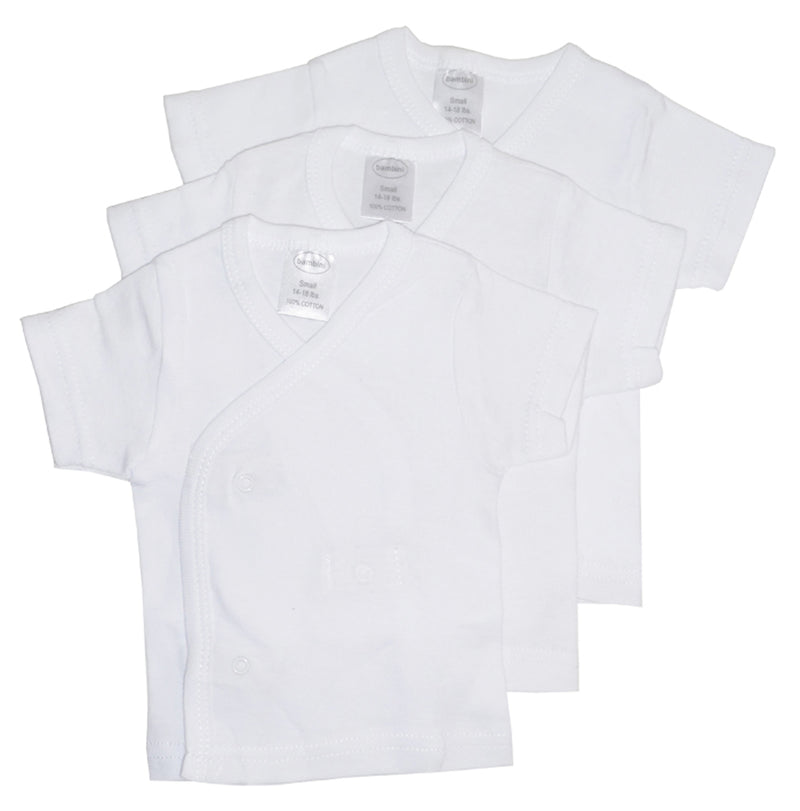 White Side Snap Short Sleeve Shirt - 3 Pack