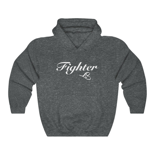 White Fighter Unisex Hooded Sweatshirt