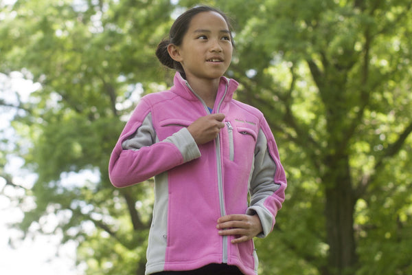 Girls' Medically Accessible Fleece Jacket - Pink
