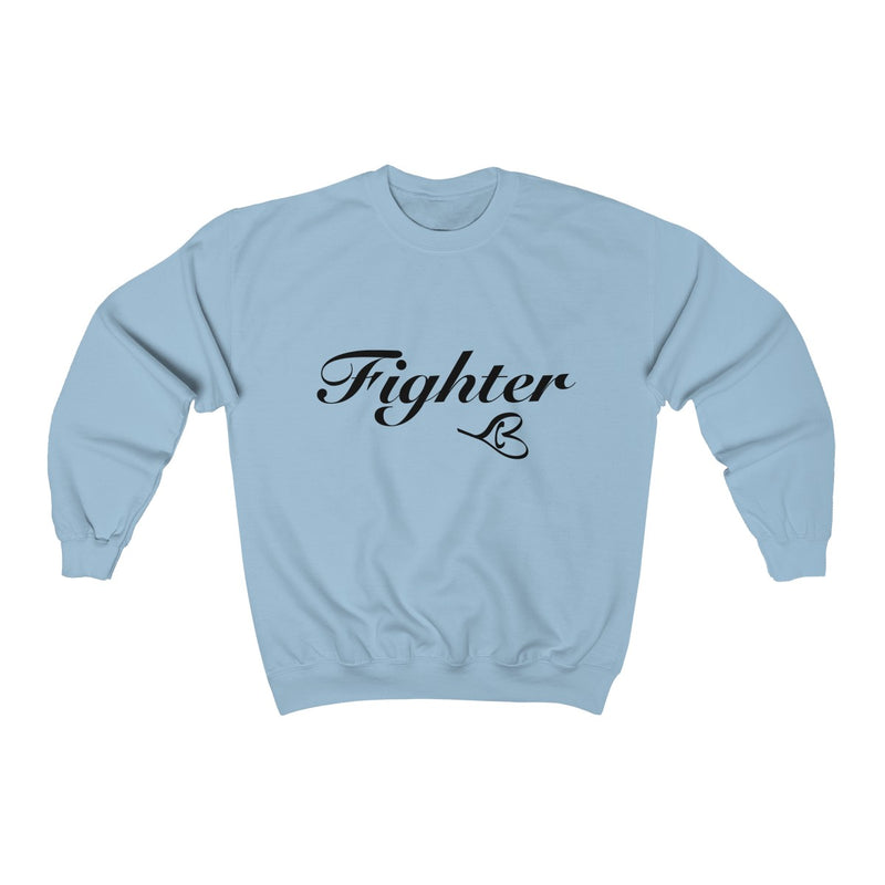 Black Fighter Unisex Crewneck Sweatshirt