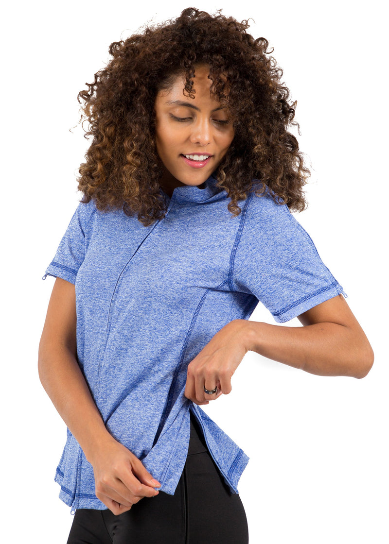 BC - The Lindsey - Women's Easy Dressing Adaptive Post Surgery Short Sleeve Top