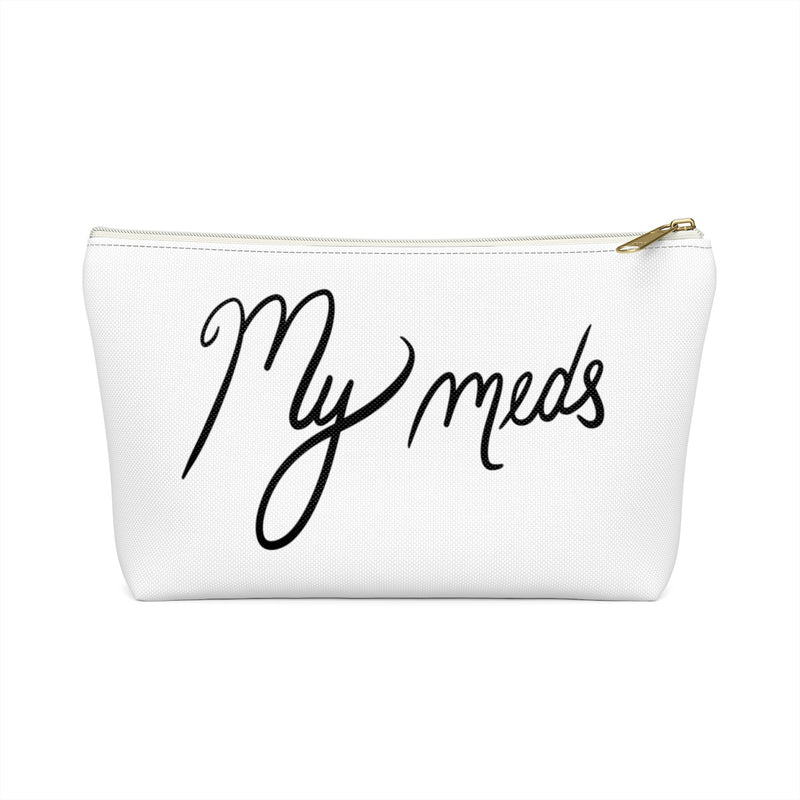 My Meds White Accessory Pouch w T-bottom