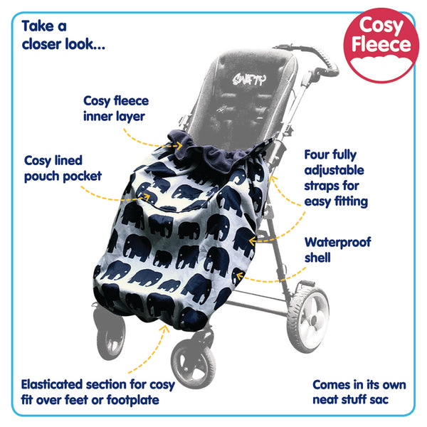 Child Wheelchair / Special Needs Stroller Fleece Lined Waterproof Cozy Cover