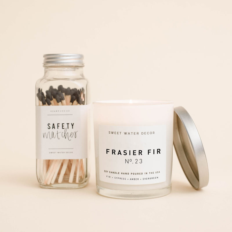 Frasier Fir Soy Candle | White Jar Candle