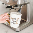 She Believed She Could So She Did Gold Coffee Mug-Coffee Mugs-Sweet Water Decor-Sweet Water Decor-Motivational-Chic-Rustic-Home-Office-Decor-Hand-Lettered-Wholesale