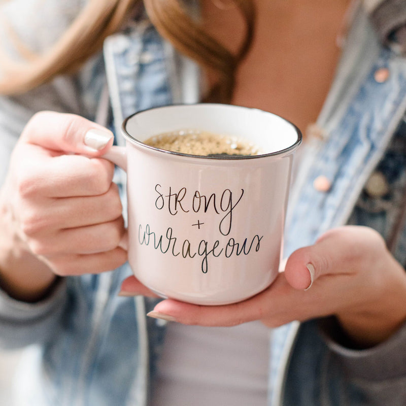 Strong + Courageous Campfire Coffee Mug