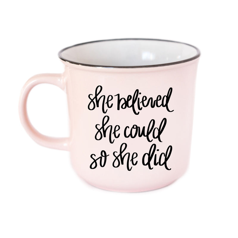 She Believed She Could So She Did Campfire Coffee Mug