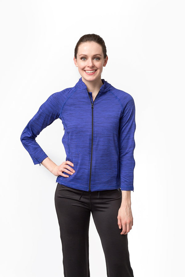 BC - The Celine - Women's Easy Dressing Adaptive Post Surgery 3/4 Sleeve Jacket