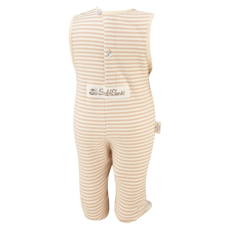 Cappuccino Stripes ScratchSleeves Jumper / Romper