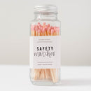 Pink Safety Matches - Glass Jar-Matches-Sweet Water Decor-Sweet Water Decor-Motivational-Chic-Rustic-Home-Office-Decor-Hand-Lettered-Wholesale
