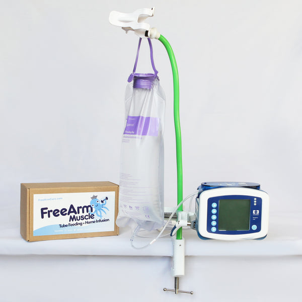 FreeArm Muscle Tube Feeding and Home Infusion Assistant (Green)