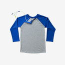 Cobalt Kids Shoulder Snap Baseball Tee