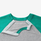 Mint Kids Shoulder Snap Baseball Tee