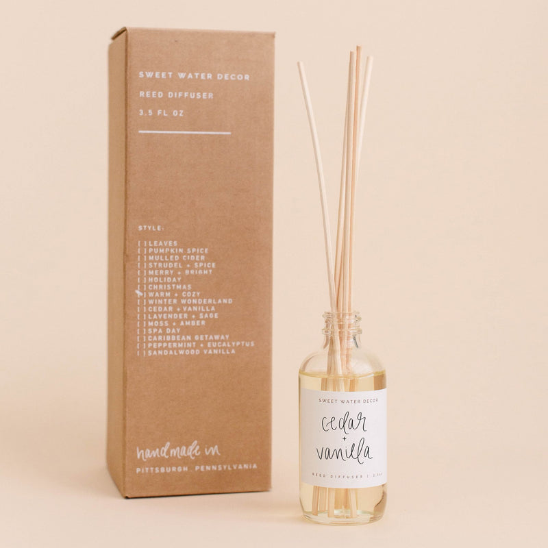 Cedar and Vanilla Reed Diffuser