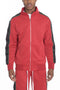 SNAP BUTTON TRACK JACKET- RED