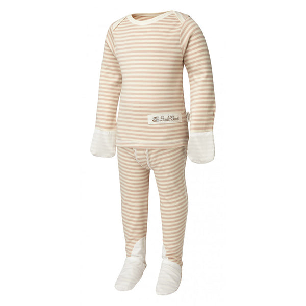 Cappuccino Stripes ScratchSleeves Pajama Set