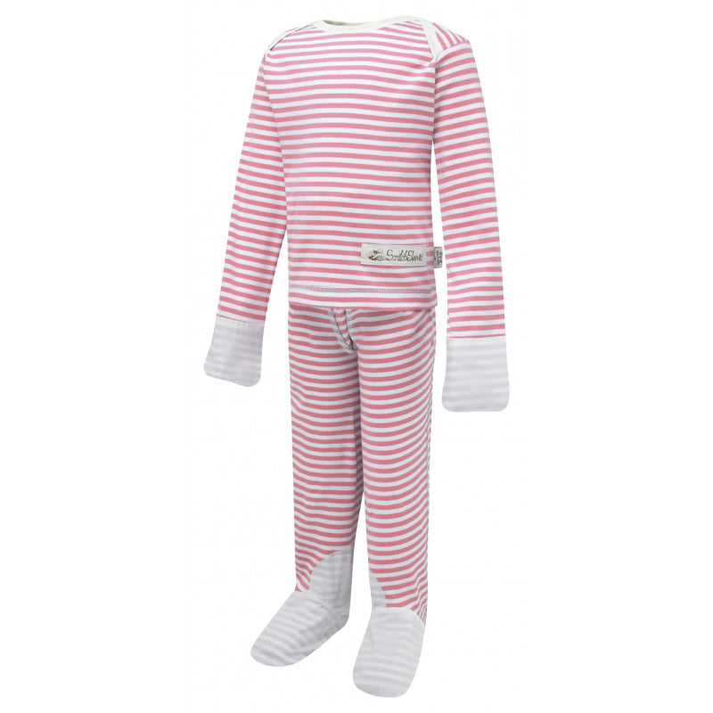 Pink Stripes ScratchSleeves Pajama Set