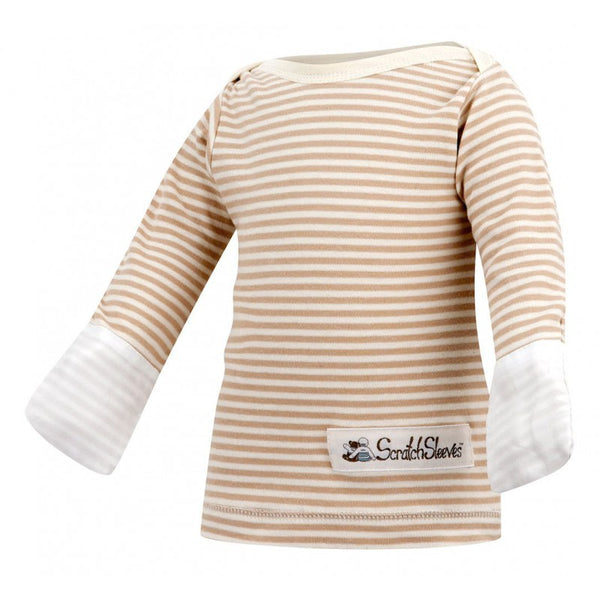 Cappuccino Stripes ScratchSleeves Pajama Top