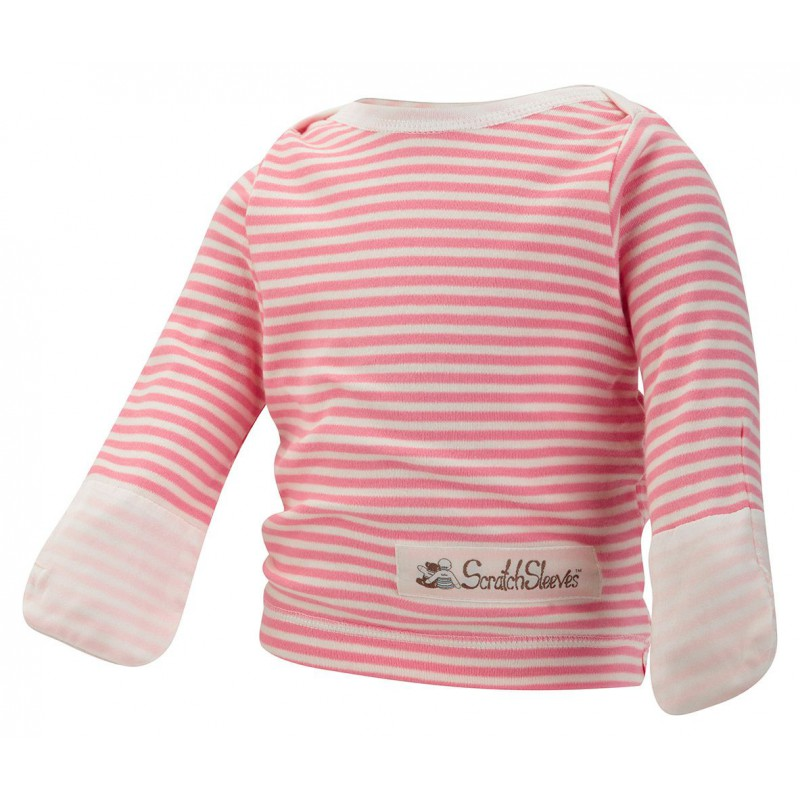 Pink Stripes ScratchSleeves Pajama Top