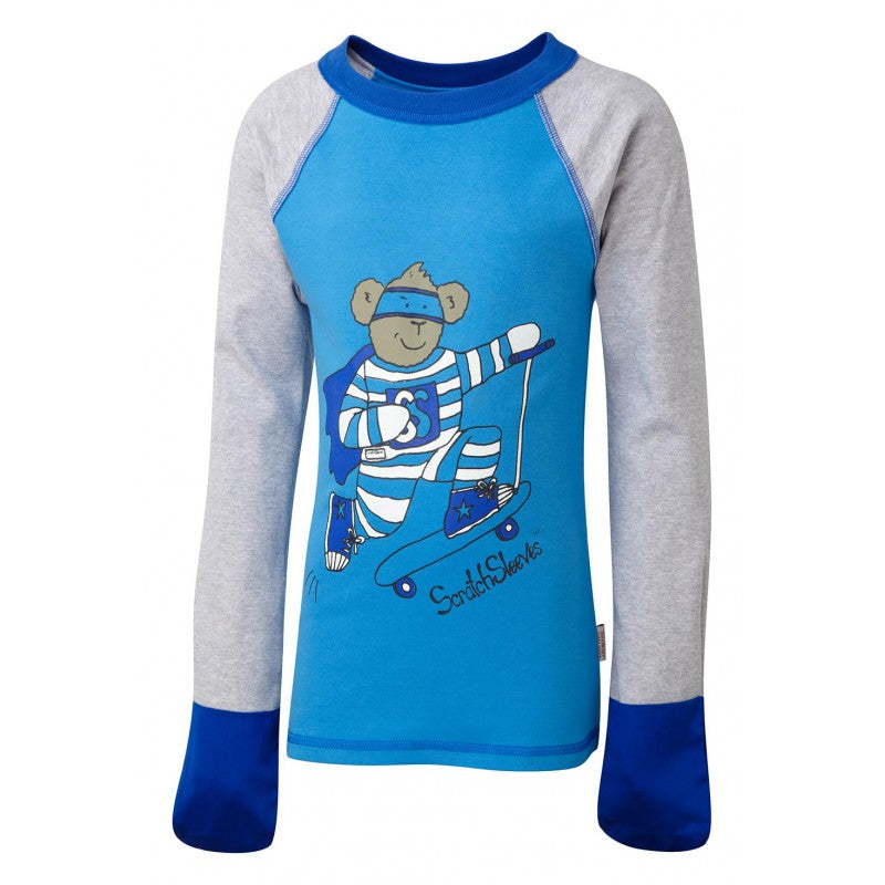 Blue Super Hero ScratchSleeves Pajama Top