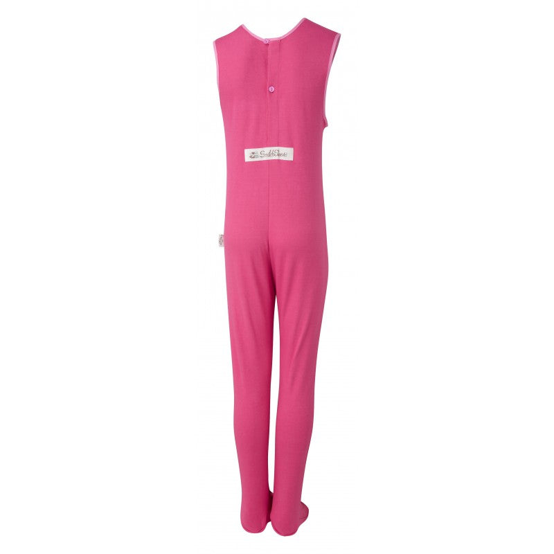 Pink Super Hero ScratchSleeves Pajama Bottoms with Feet